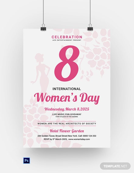 Free Editable Womens Day Poster Template