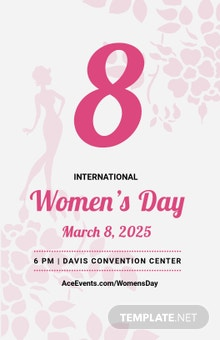 Free Editable Women???s Day Poster Template