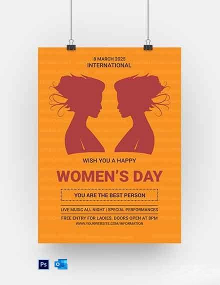 Free International Women???s Day Poster