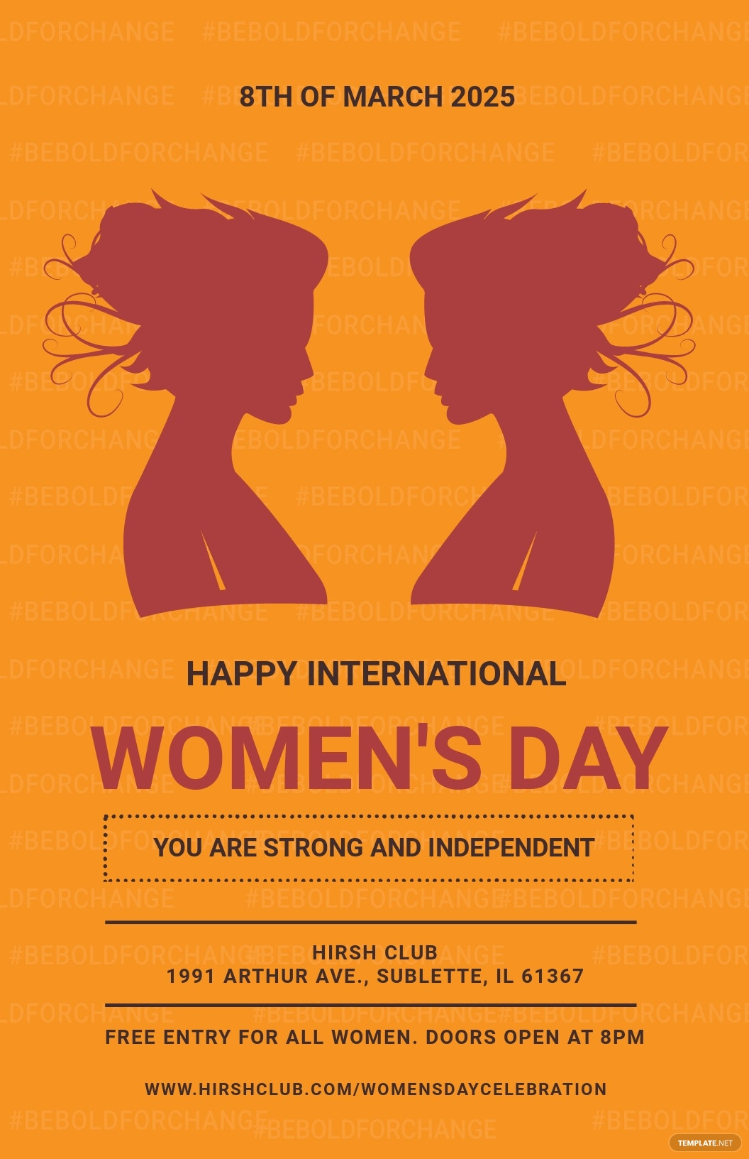 International Womens Day Poster Template
