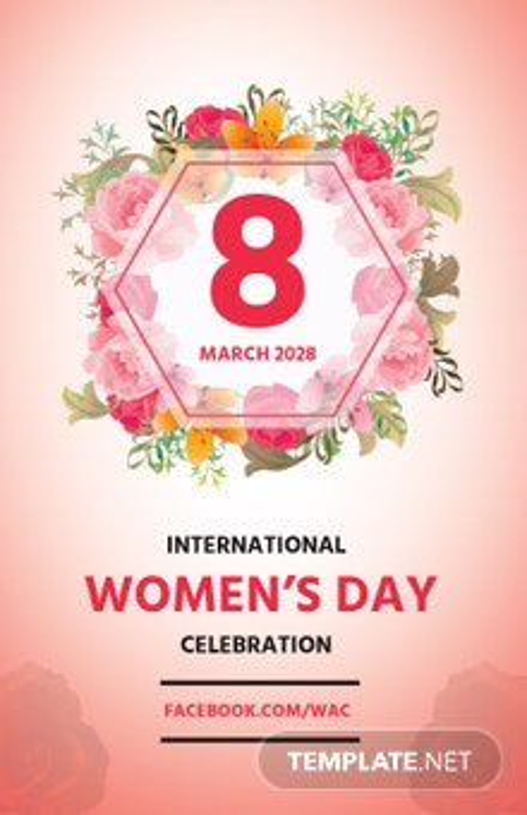 Free Women's Day Celebration Poster
