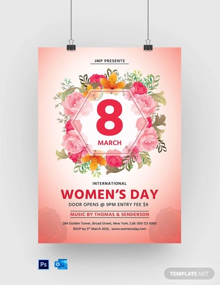 Free Women???s Day Celebration Poster