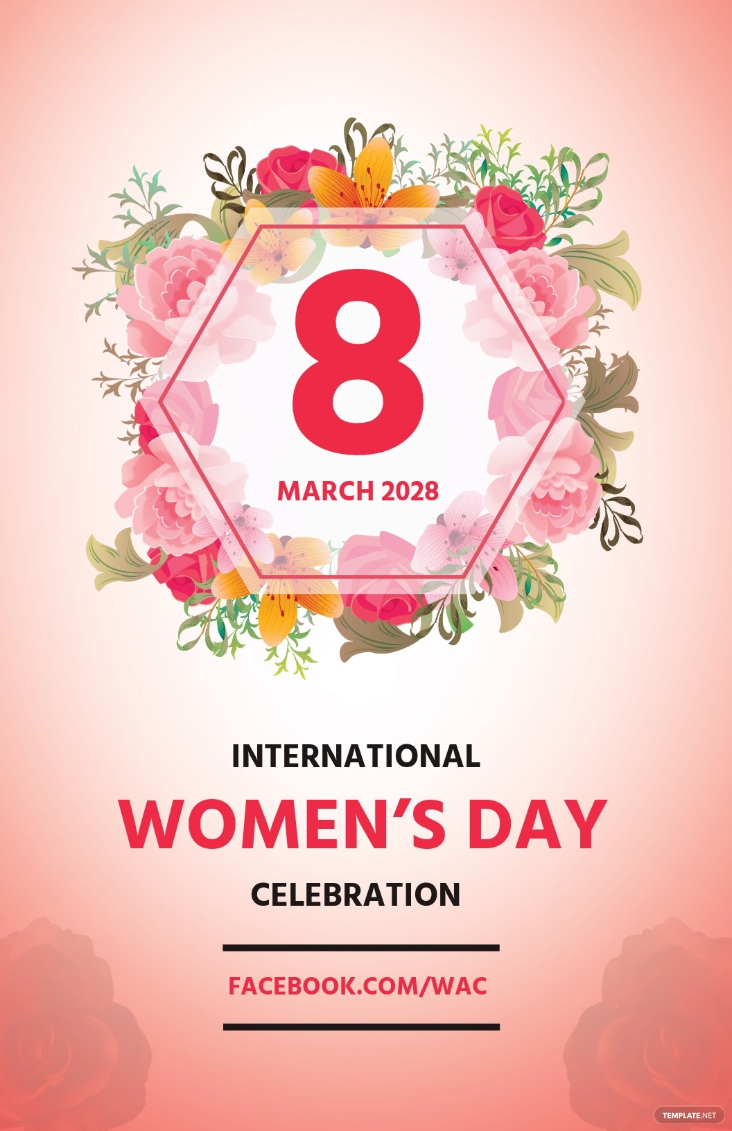 Women's Day Celebration Poster Template