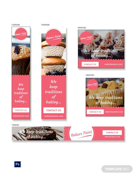 Free Bakery Ad Banners Template