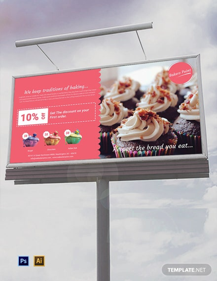 Free Bakery Billboard Template