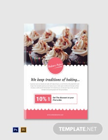 Free Bakery E-Book Cover Page Template