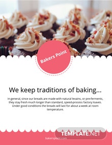Bakery E-Book Cover Page Template