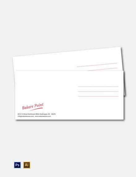 Free Bakery Envelope Template