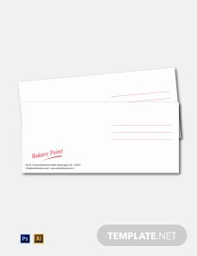 Free Bakery Envelope Template