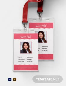 Free Bakery Identity Card Template