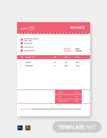 Free Bakery Invoice Template