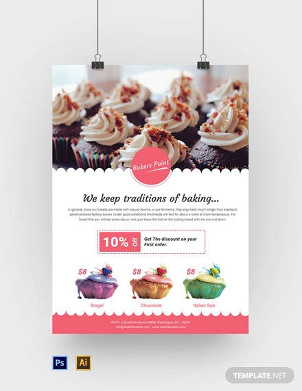 Free Bakery Poster Template