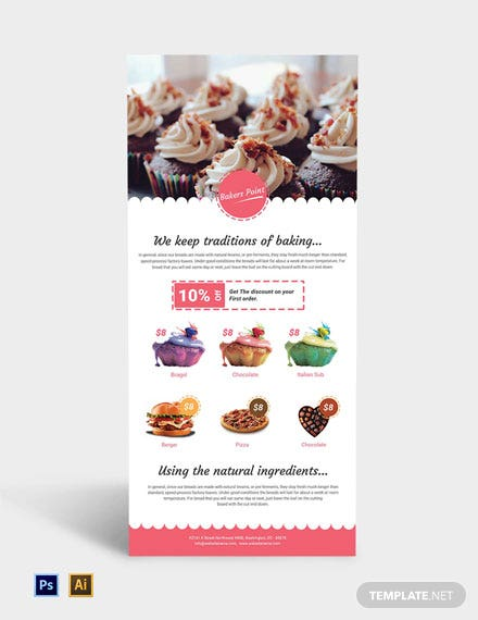 Free Bakery Rack Card Template
