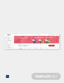 Free Bakery YouTube Template