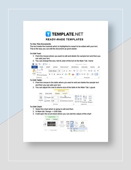 Email Marketing Calendar Instructions