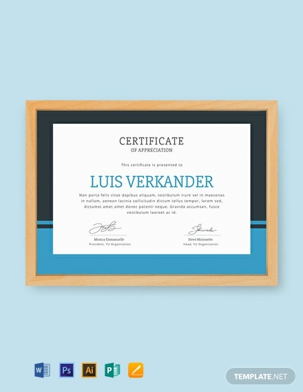 Free Volunteer Certificate of Appreciation Template