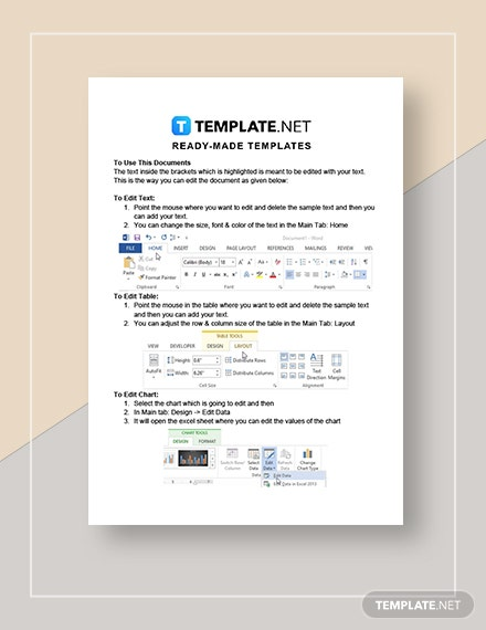 Printable Training Calendar Instructions