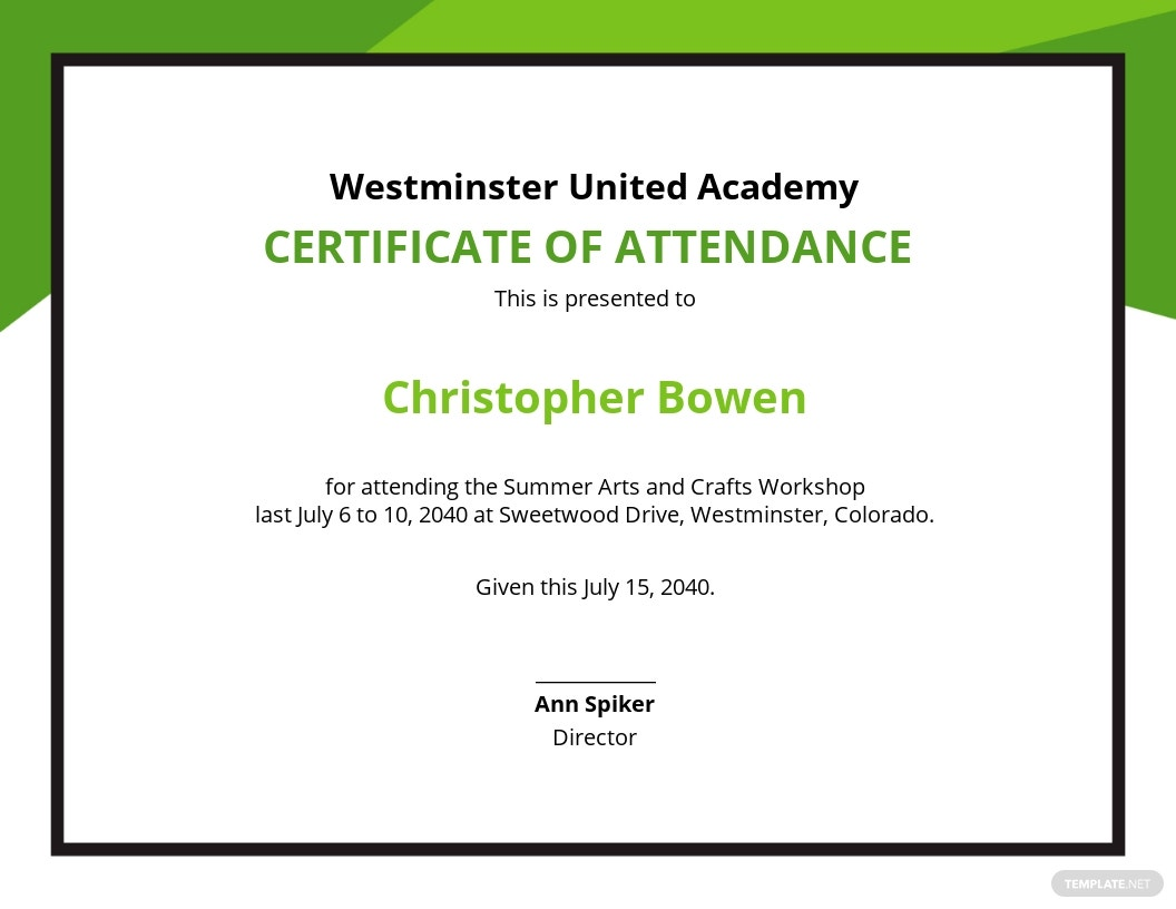 Free Workshop Attendance Certificate Template.jpe