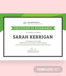 Free Workshop Attendance Certificate Template
