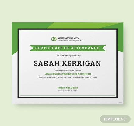 Free Workshop Attendance Certificate Template