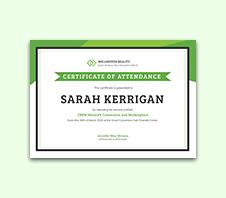 attendance certificates free