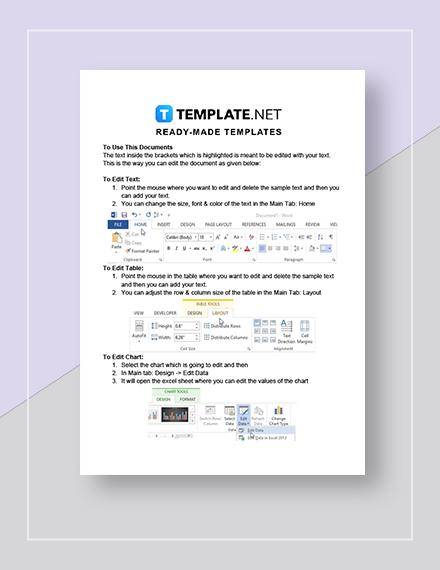 Editable Academic Calendar Instructions