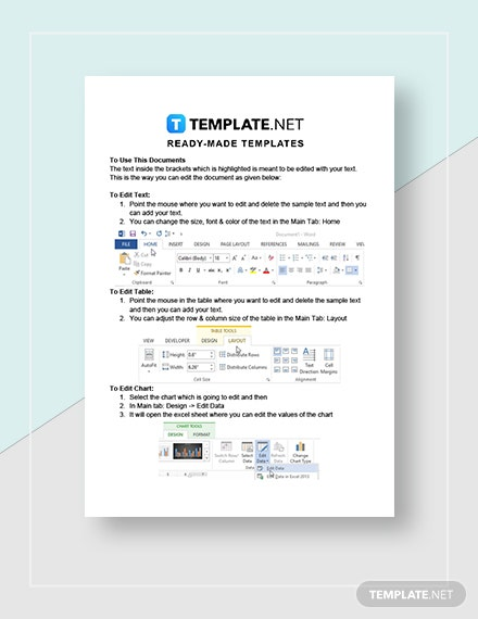 Blank Academic Calendar Instructions