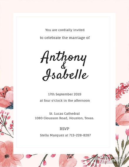 free blank wedding invitation template download 344 invitations in illustrator psd word publisher pages templatenet