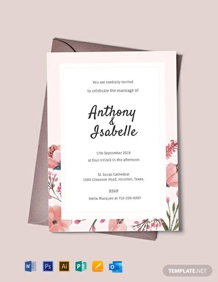 Free Blank Wedding Invitation Template Word Doc Psd Indesign Apple Mac Pages Publisher