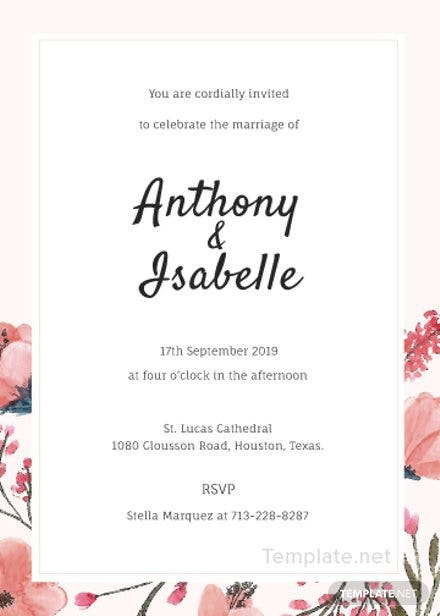 Free Blank Wedding Invitation Template
