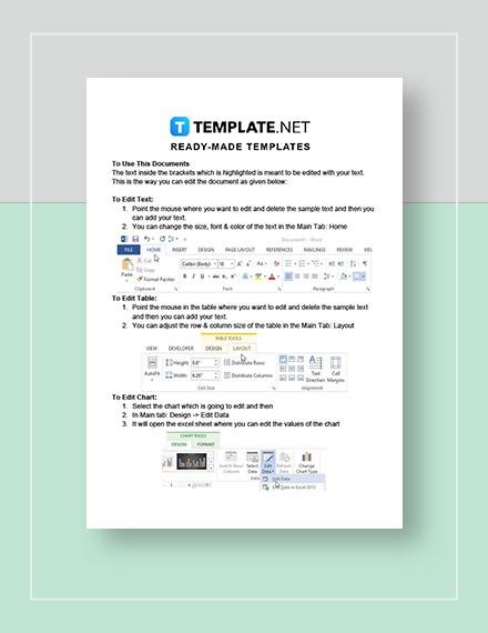 Editable Annual Calendar  Instructions