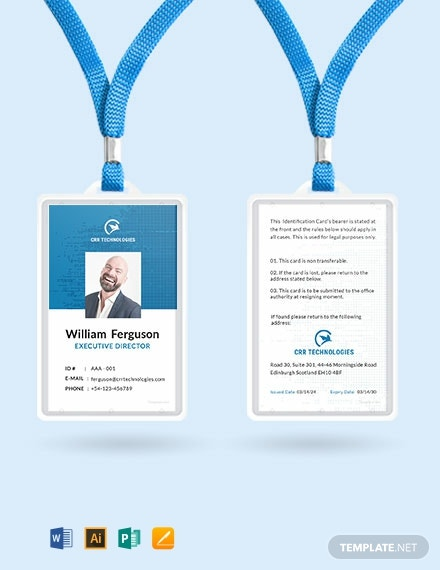 43 Free Id Card Templates Word Doc Psd Indesign Apple Pages Publisher Illustrator Template Net