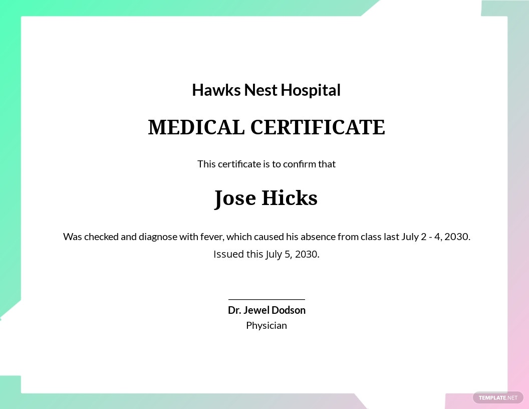 Medical Certificate Template for Absent.jpe