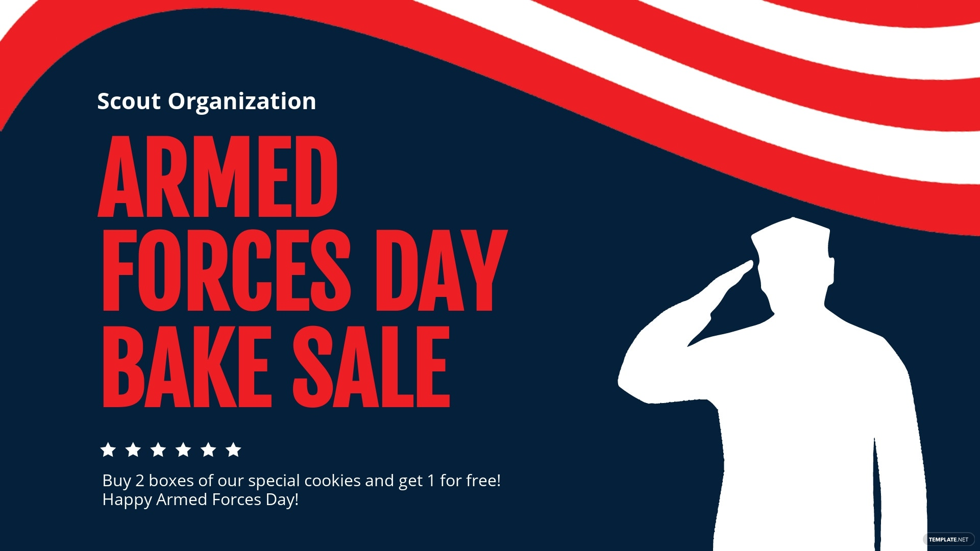 Free Armed Forces Day Facebook Event Cover Template