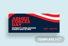 Armed Forces Day Facebook Event Cover Template