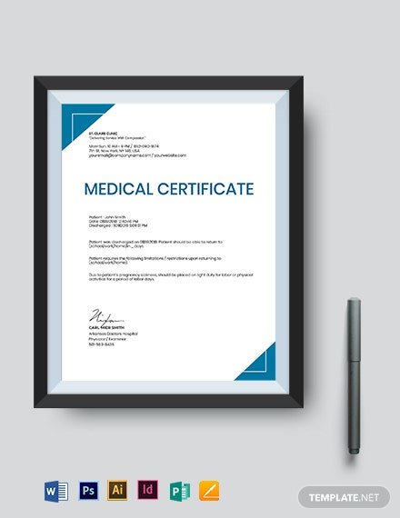 medical certificate template for pregnancy sickness 2