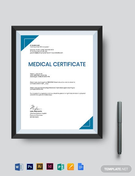Medical Certificate Template For Pregnancy Sickness