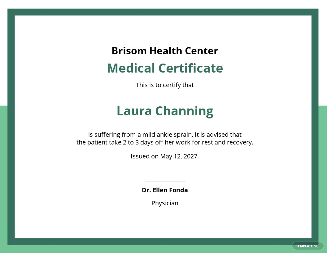 Medical Certificate Template for Work.jpe