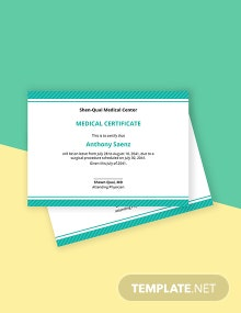 Medical Leave Certificate Template