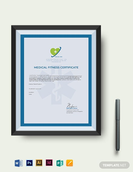 not fit to work medical certificate template