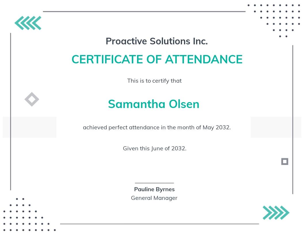 Perfect Attendance Certificate Template.jpe