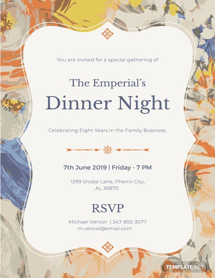 free formal dinner invitation template download 344 invitations in