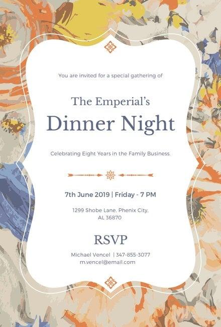 Free Formal Dinner Invitation Template In Microsoft Word Publisher - Formal dinner invitation template