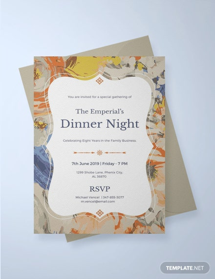 Free Formal Dinner Invitation Template: Download 344+ Invitations in ...