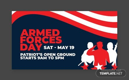 Armed Forces Day Facebook App Cover Template