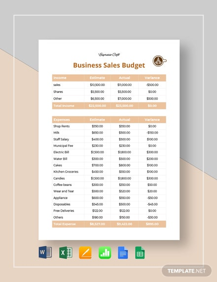 business sales budget