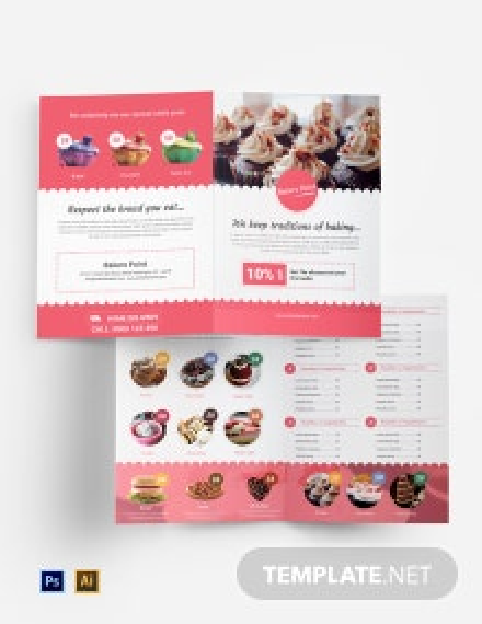 Bakery Bi-Fold Brochure Template