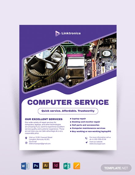 Computer Repair Services Flyer Template