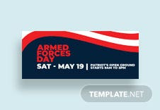 Armed Forces Day Facebook Cover Template