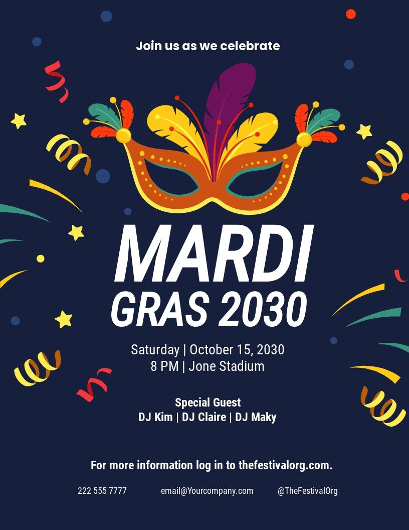 Carnival Mardi Gras Party Flyer Template.jpe
